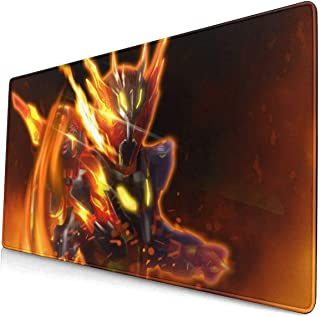 Kamen Rider Cross-Z Magma - Volcanic Dragon Z 15.8x29.5 in Large Gaming Mouse Pad Desk Mat Long Non-Slip Rubber Stitched Edges
