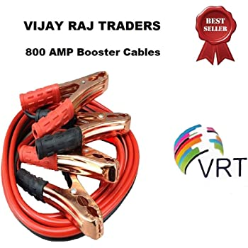 VRT Premium Car Heavy Duty Booster Cables|| Auto Battery Booster 2.21 Meter || Clamp to Start Dead Battery || Auto Car Jumper Cables (800 Amp) (Multicolor)