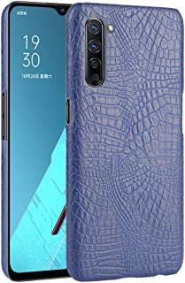 zl one Compatible with/Replacement for Phone Case OPPO K7 5G Crocodile Pattern PU Leather Case Back Cover (Blue)