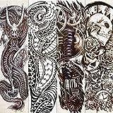 4 Piezas De Largo A Prueba De Agua Brazo Completo Tatuaje Temporal Robot Máquina Maorí Tótem Tatuaje Pegatina Para Hombres Mujeres Pierna Arte Falso Tatuajes