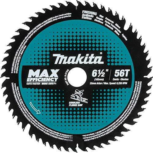 Makita B-57342 6-1/2' 56T Hoja de sierra de inmersión inalámbrica con punta de carburo