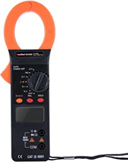 Digital Clamp-On Meter, Ruoshui 1.5 Inch Jaw Opening Auto Ranging Multimeters MAX Range AC DC 1000 Amp DC 1000 Volt AC 750 Volt 100 Micro Farad 40 Mega Ohm with 9V Battery & Testing Leads