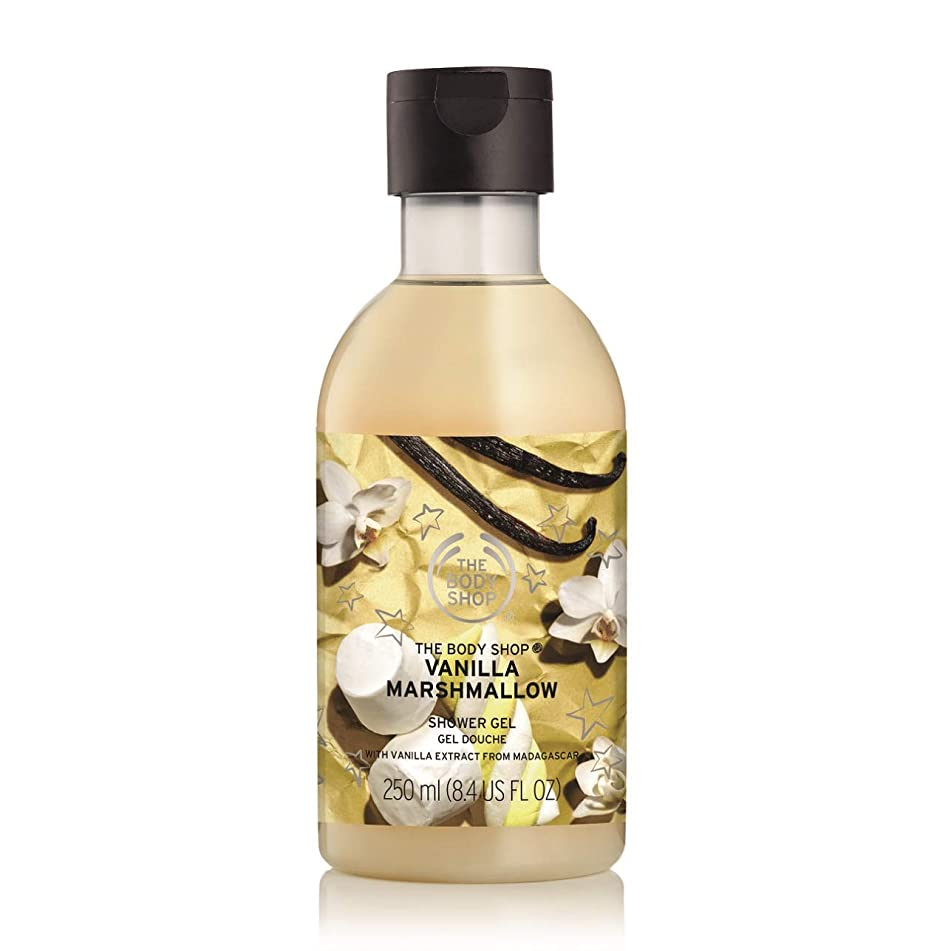 The Body Shop Vanilla Marshmallow Shower Gel, 8.4 Fl Oz (Vegan)