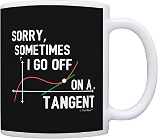 Funny Math Gifts Sometimes I Go Off on a Tangent Math Geek Gifts STEM Engineer Gifts for Math Teachers Gift Coffee Mug Tea Cup Black