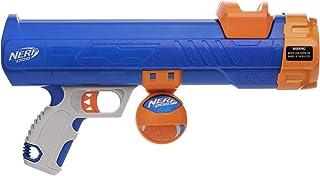 Nerf Dog Tennis Ball Blaster Gift Set Dog Toy, Blue/Orange/Gray, 12 Inch Ultra Compact Blaster with 1 Ball