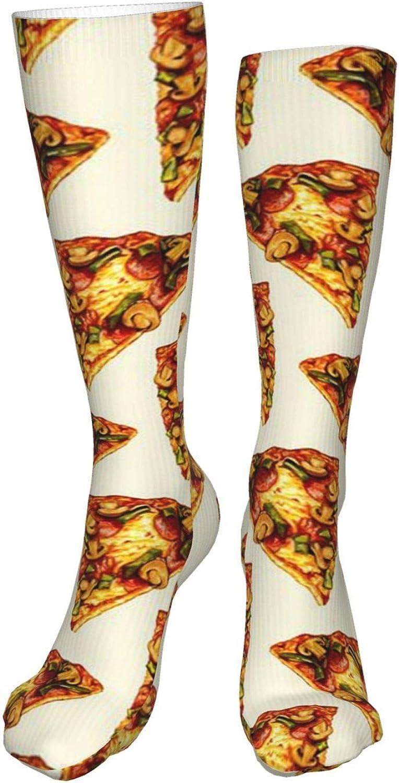 Pizza Women Premium High Socks, Stocking High Leg Warmer Sockings Crew Sock For Daily And Work
