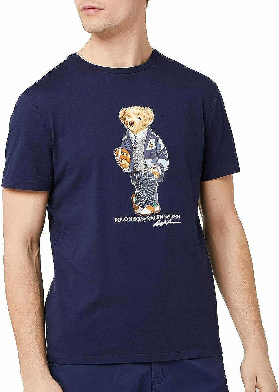 Polo Ralph Lauren Men's Big & Tall Preppy College Football Bear Tee
