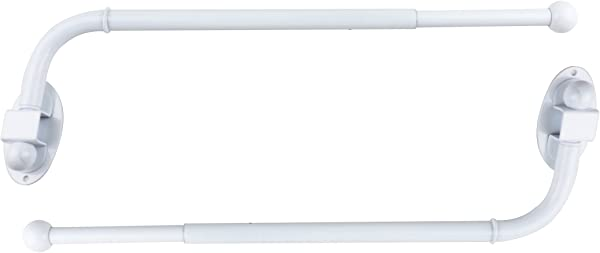 Urbanest Set Of 2 Swing Arm Rods 3 4 Inch Diameter 14 Inch To 24 Inch Glossy White