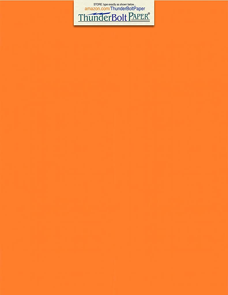 50 Bright Orange Cover/Card Paper Sheets - 8.5 X 11 Inches Standard Letter|Flyer Size - 65# (65 lb/Pound) Light Weight Cardstock - Quality Printable Smooth Paper Surface for Bright Colorful Results