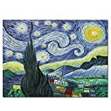 Fokenzary pintura al óleo pintada a mano sobre lienzo Vincent Van Gogh Classic Starry Night...