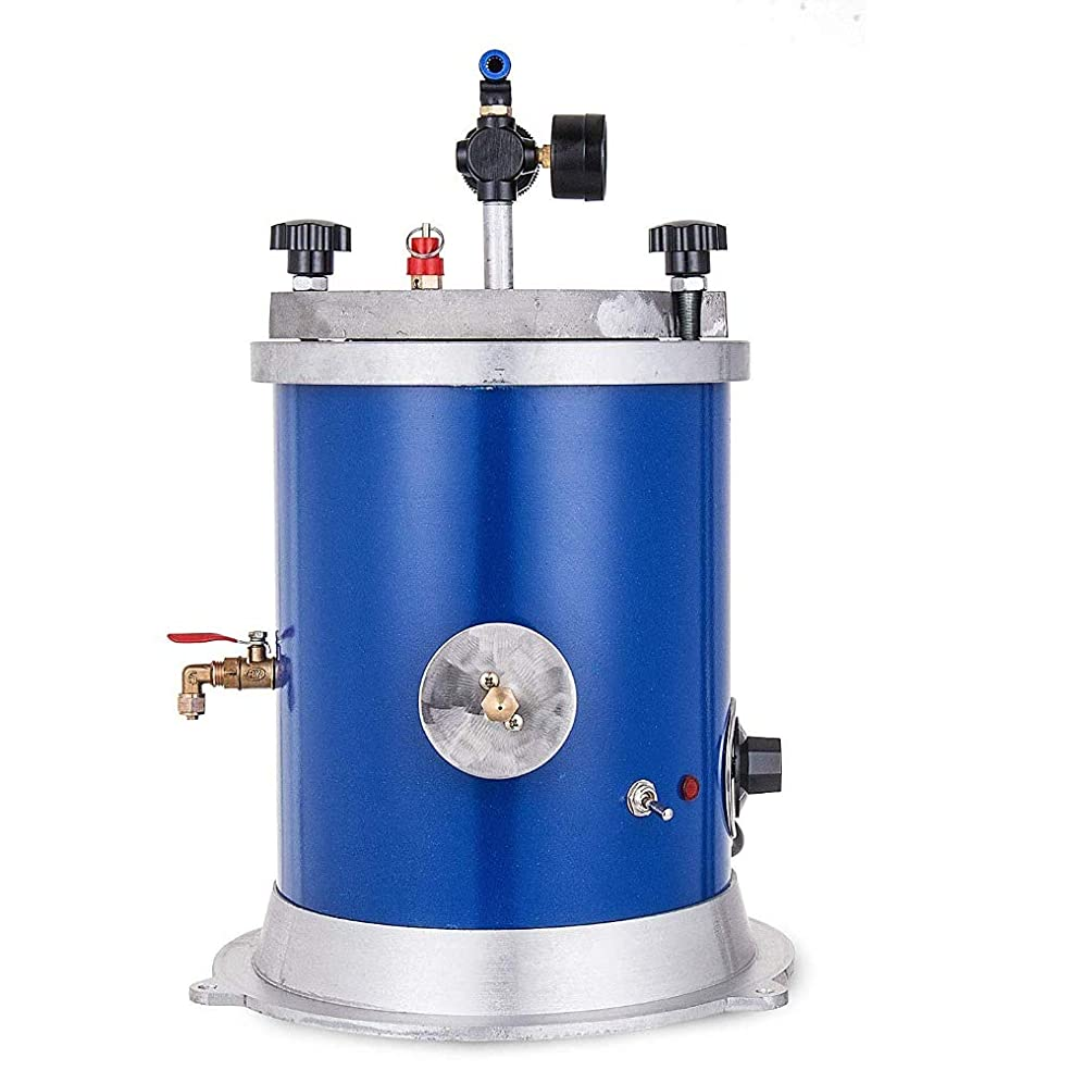 人口処理する繰り返すワックスインジェクター5.5LBワックス噴射用ダブルノズル付きジュエリー500Wワックス鋳造機用タンクワックス噴射機