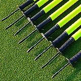 CW Slalom Poles with Steel Spike (5ft x 25 mm) Slalom Poles Set Plastic Football Field Agility Poles with Spike Pack of 4, 6, 8, 12 (Pack of 8, Flag Pole with Spring & Plate)