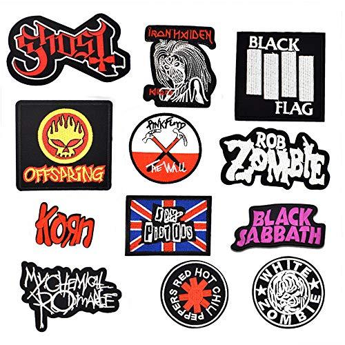 Riao-Tech 12pcs Heavy Metal Rock Ba…