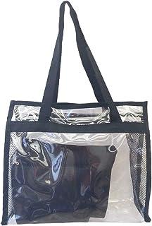 Bolsa feminina praia sacola transparente 2 necessaires brinde preta