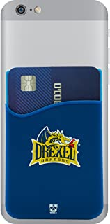 Drexel Dragons Adhesive Silicone Cell Phone Wallet/Card Holder for iPhone, Android, Samsung Galaxy, Most Smartphones