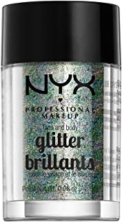 NYX PROFESSIONAL MAKEUP Face & Body Glitter, Crystal, 0. 08 Ounce GLI06