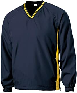 Men's Athletic V-Neck Raglan Wind Shirts in Youth, Regular and Tall Sizes XS-6XL