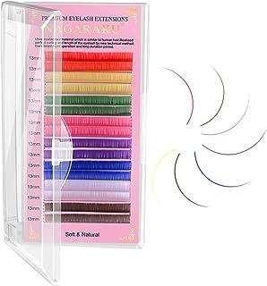NAGARAKU Gekleurde Wimperextensions 8 Kleuren Regenboog 0,07 mm D-Krul 13 mm Paars Blauw Roze Bruin Volume Individuele Wim...