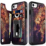 LETO iPhone SE 2020 Case,iPhone 8 Case,iPhone 7 Wallet Case,Flip Folio Leather Case with Floral Designs,Kickstand Card Slots Cover,Protective Phone Case for iPhone 7/8/SE 2020 Beautiful Henna