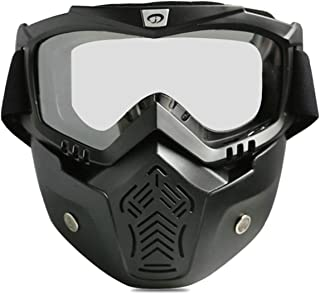 Aooaz Cycling Glasses Motorcycle Goggles Outdoor Goggles Retro Mask Goggles Riding Mask