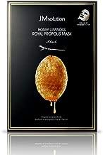 〔JMsolution〕 Honey Luminous Royal Propolis Mask / Korea Facial Mask / 30ml X 10PCS / Honey Mask Sheet / Giving Skin Glow & Elasticity