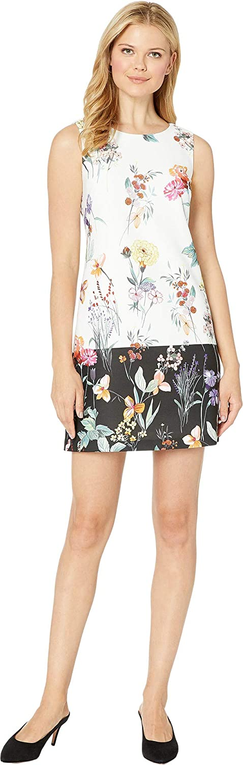 Adrianna Papell Women's Garden Border Shift Dress