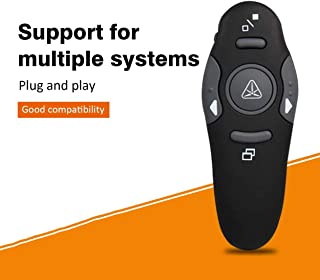 Ballylelly RF 2.4GHz Presenter wireless Telecomando USB Presentazione Puntatore Penna Puntatori di presentazione neri in power point
