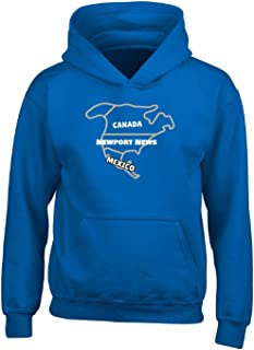 Canada Newport News Mexico Funny Live In City Proud Gift - Adult Hoodie