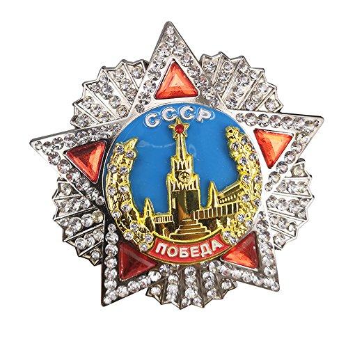 GuDeKe Orden de la Victoria Soviética Rusia Bagde CCCP Medalla de Orden de la URSS 73mm Copia