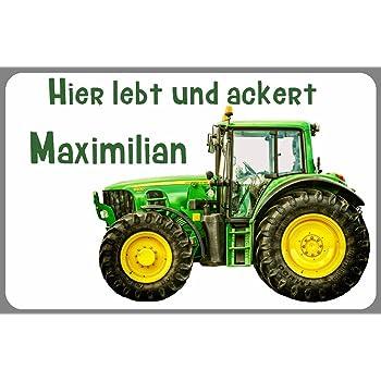 FS Auto Echte M/änner Fahren Traktor Blechschild Schild gew/ölbt Metal Sign 10 x 27 cm