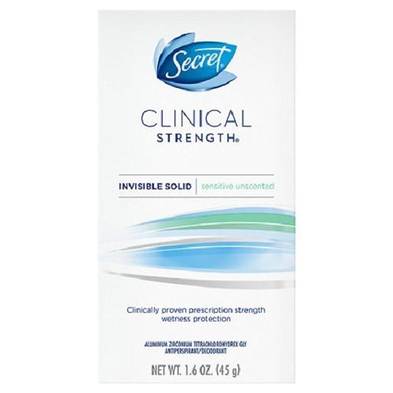 合理的清める腐敗したSecret/シークレット クリニカル Clinical Strength デオドラント, Invisible Solid,1.6oz/45g(並行輸入品) (無香料)