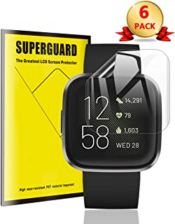 [6 Pack] TopACE for Fitbit Versa 2 Screen Protector, Full Coverage Soft Skin Flexible TPU Film Compatible for Fitbit Versa 2
