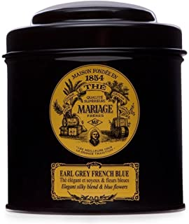 MARIAGE FRERES. Earl Grey French Blue Tea, 100g Loose Tea, in a Tin Caddy (1 Pack) MR24LS