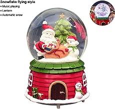 Luminoso Christmas Snow Globe Music Box, Christmas Rotating Santa Claus Musical Box, Snowman Snow Globe with Falling Snowflakes, Music Playing