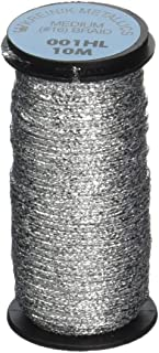 Kreinik No.16 10m Metallic Braid, Medium, Hi Lustre Silver