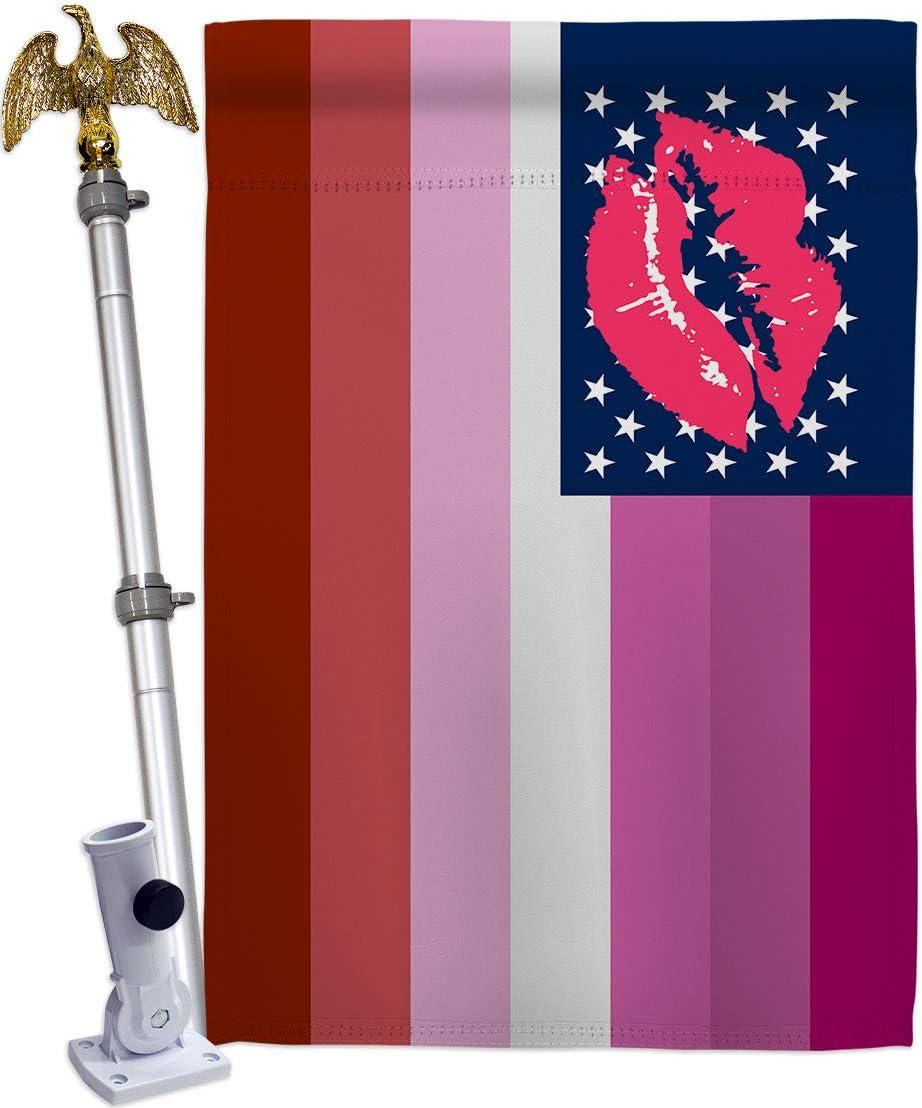 Americana Home Ranking TOP11 Garden Pride Max 62% OFF US Lipstick House Lesbian Flag Eag