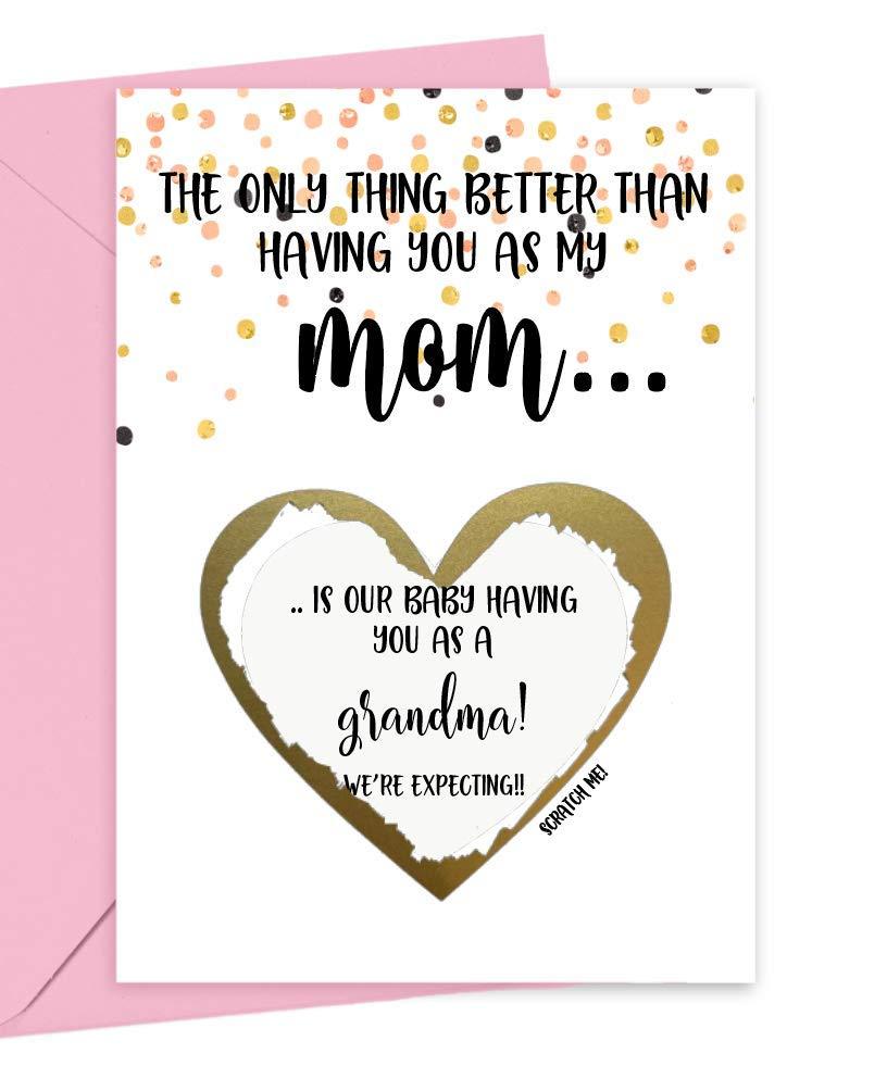 Pregnancy Scratch Off Very popular Card cheap Grandma Mom for New