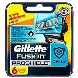 Ancienne Version/Gillette Fusion ProShield Chill Lames De Rasoir Pour Homme - 6Recharges