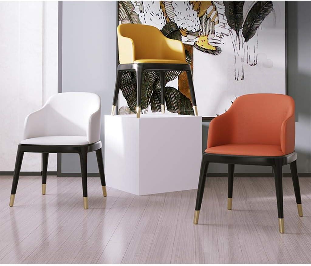 Chaise WGZ de Salle, de Bureau Simple, créative Dossier, Loisirs, Maison Adulte de Salle Simple (Color : Yellow) Yellow