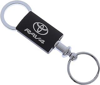 Au-Tomotive Gold, INC. Toyota Rav4 Black Valet Key Chain Car Gift Fob