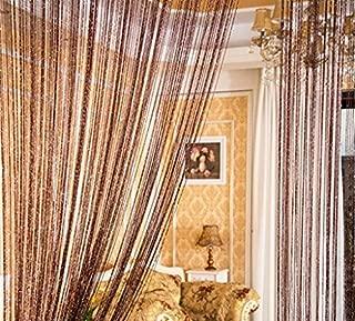 ave split Decorative Door String Curtain Wall Panel Fringe Window Room Blind Divider Tassel Screen Home 100cm200cm (coffee18)