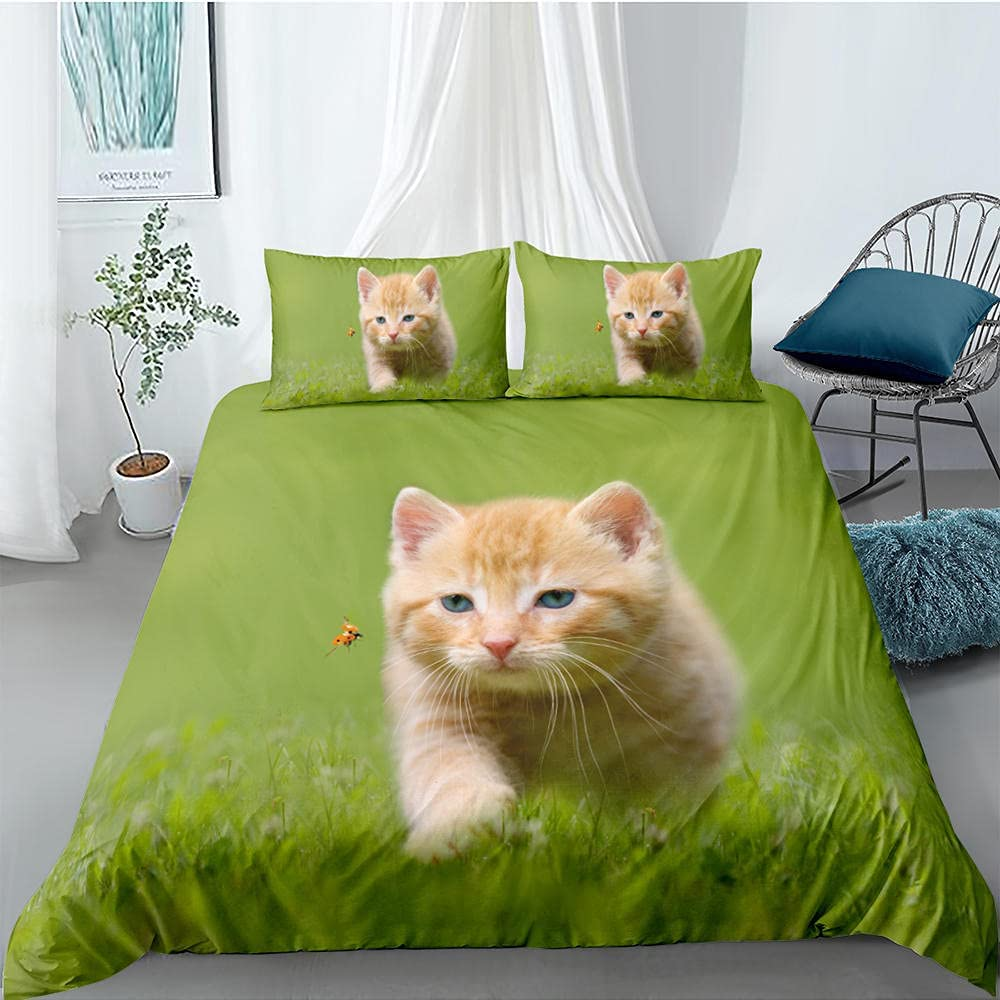 3D Printed Funny Cat Bedding National uniform free shipping Set Creative Max 48% OFF Lovely Design A Unique