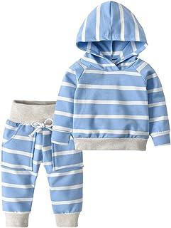 Toddler Infant Baby Boys Girls Stripe Long Sleeve Hoodie...