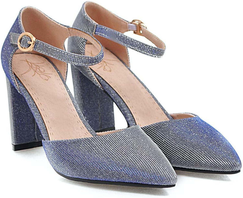 MENGLTX High Heels Sandalen Neue Ankunft Frauen Pumpt Spitze Sommer Schuhe Einfache Schnalle Mode Party Hochzeit Schuhe Quadratische Ferse Schuhe