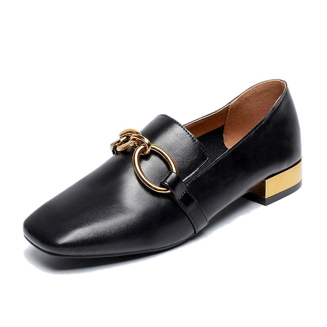 無しピック液体HWF レディースシューズ 夏のレザーシューズ女性学生ブラック英国スタイルのカジュアルな女性の靴 ( 色 : ブラック , サイズ さいず : 39 )