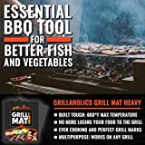 Grillaholics Grill Mat Round - As Featured on Rachael Ray Top Grilling Accessories - Set of 2 Nonstick BBQ Grilling Mats - 15 Inch