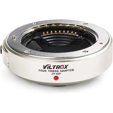 VILTROX マウントアダプター JY-43F 電子アダプター フォーサーズマウントレンズ→マイクロフォーサーズマウントカメラに装着用 AF対応 パナソニック/オリンパスM43カメラE-P1/E-P2/E-PL1/E-PL2/E-PL3/G1/ G2/G10/GF1/ GF2/GF3など対応 銀色