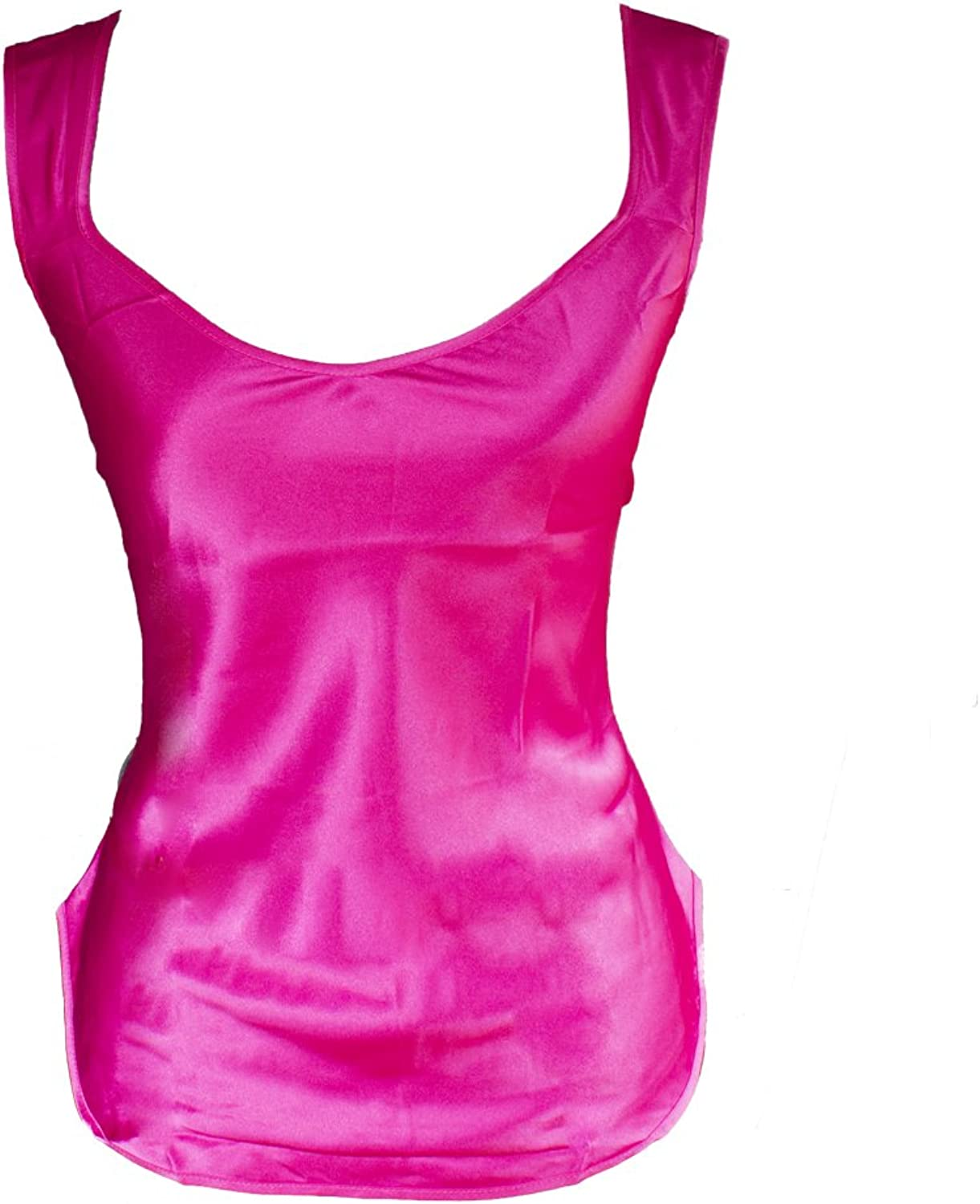 Women's Pink Camisole Silky Charmeuse Fabric L1049
