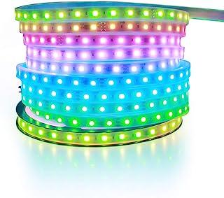 ALITOVE WS2811 Addressable RGB LED Strip Light 24V 32.8ft 600 LEDs Dream Color Programmable Digital LED Pixel Lights Rainb...
