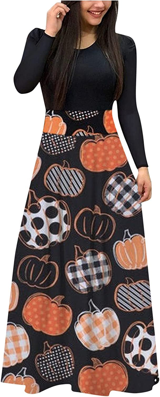 Party Dresses for Women Sexy Elegant,Halloween Print Maxi Dress